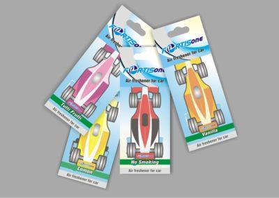 Auto kvapų etiketė