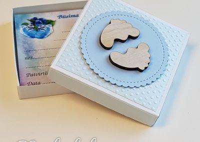 Būsimos profesijos kortelių dėžutė Mėlyna