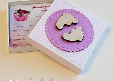 Būsimos profesijos kortelių dėžutė Rožinė